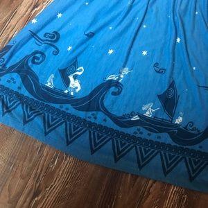 Disney Dresses - Disney Blue Moana Print Dress